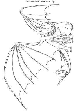 Dragon Trainer da colorare — Mondo Bimbo