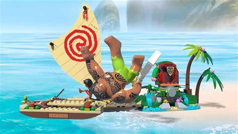 moana on boat song smyths toys lego disney moana s ocean voyage 41150 youtube