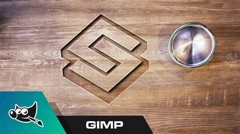 wood pattern gimp gimp tutorial carved wood logo mockup funnydog tv