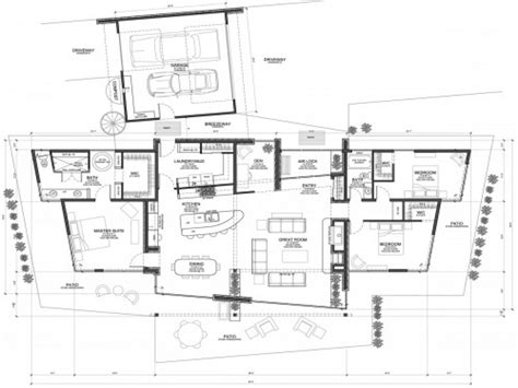 modern floor plan modern house plans concrete