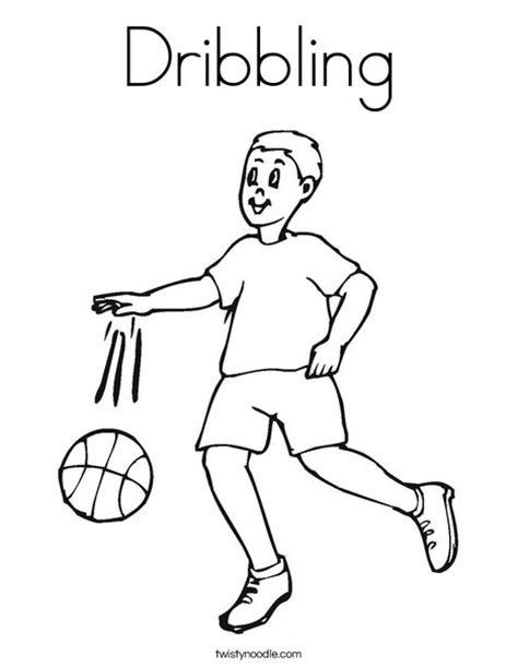 dribbling coloring page twisty noodle