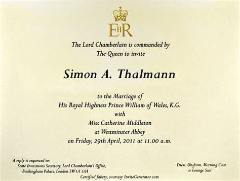 Royal Invitation Letter Exle Excellent Royal Wedding Invitation Theruntime