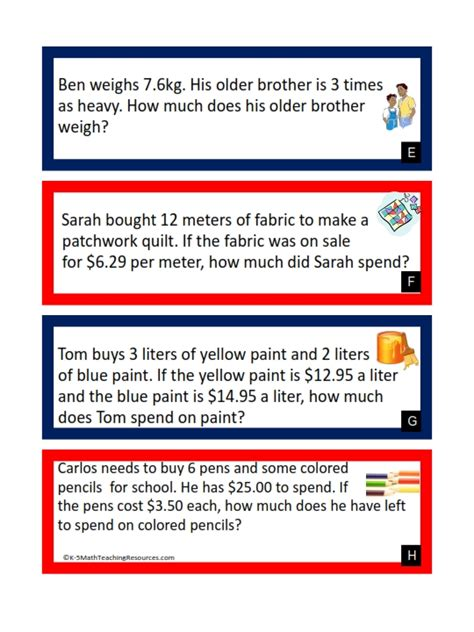 5 nbt 7 multiplying decimals word problems free