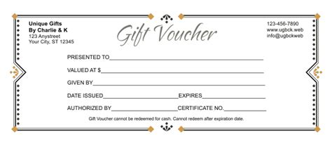Gift Voucher Template 3 Voucher Templates Word