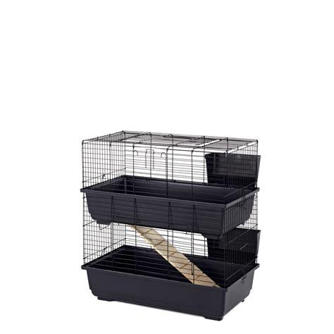 little friends double indoor rabbit cage 80cm blue base