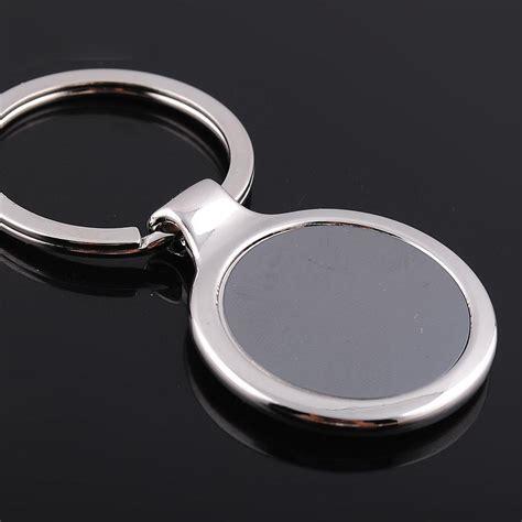Hadiah Gantungan Kunci Negara Malaysia gratis pengiriman melalui dhl 1000 pcs lot logam grosir putaran kosong gantungan kunci logo