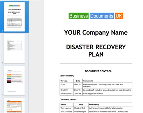 itil disaster recovery plan template incident response diagram incident circuit and schematic