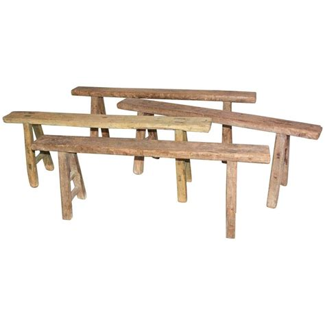 antique teak bench four rustic antique asian teak benches sold singly for