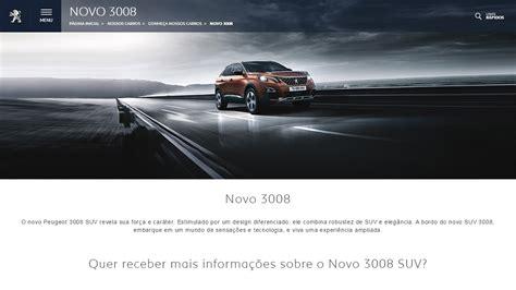 peugeot website novo peugeot 3008 j 225 tem site oficial no brasil