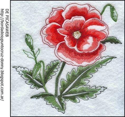 imagenes de flores bordadas a mano flores bordados a mano imagui