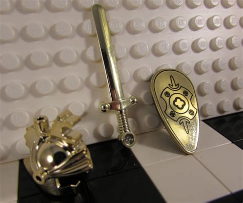 Lego Custom Chrome Gold Armor Breastplate With Leg Protection Original build your own lego in shining armor with all