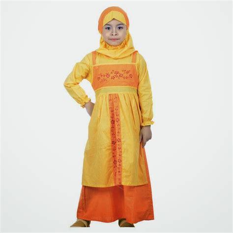 Gamis Anak Labella Ungu No 33 tren baju muslim anak laki laki dan perempuan awal tahun