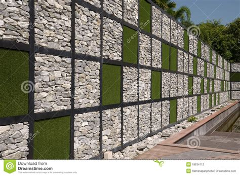 what are walls made of wall made from rock and artificial grass stock photo