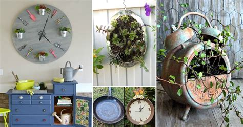 unusual diy clock ideas  garden balcony garden web