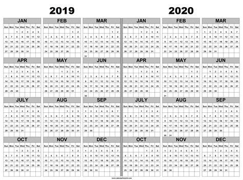 calendar printable   years light print