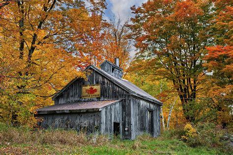 vermont sugarhouse photograph  expressive landscapes