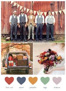 fall wedding color palette pretty autumn palette ideas foryourparty wedding