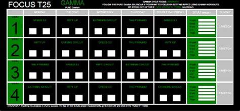 Beta Calendar Focus T25 Workout Schedule Calendar Pdf