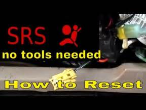 how to reset srs airbag light turn the srs