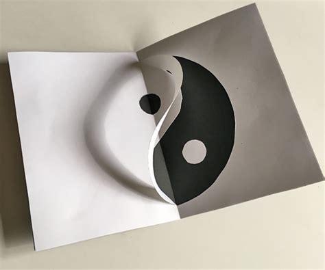 yin yang card template yin yang pop up