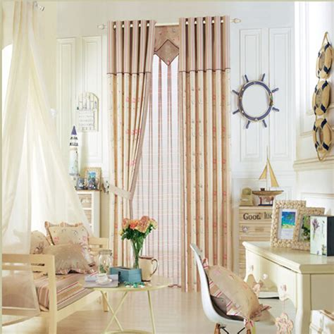 seashell drapes polyester privacy nautical printed seashell pattern
