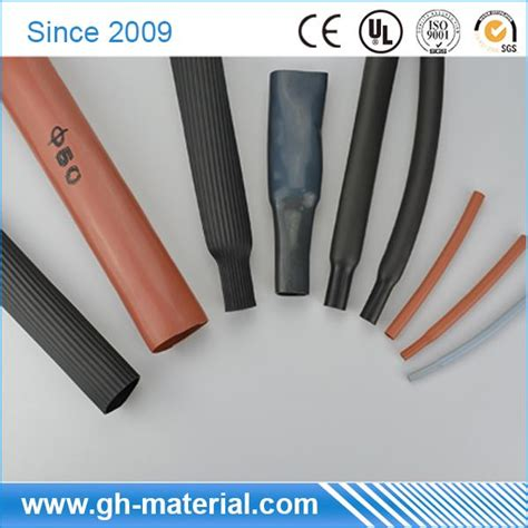 colored heat shrink tubing colored customized silicone rubber heat shrink tubing