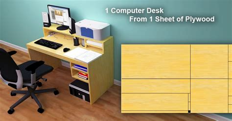 plywood computer desk computer desk from 1 sheet of plywood