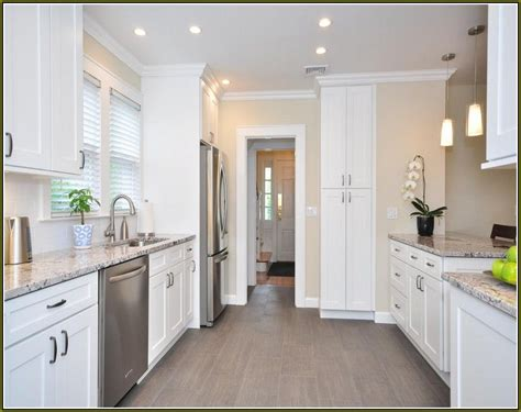 White Kitchen Cabinets With Floors by White Kitchen Cabinets With Grey Floors Search