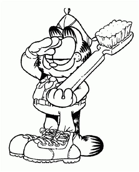 garfield coloring pages pdf garfield coloring pages garfield holding a fork and