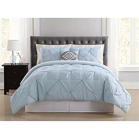 light blue twin comforter buy truly soft pueblo pleated 6 piece twin comforter set