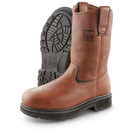 kodiak mens boots s kodiak 174 steel toe wellingtons brown 284625 work