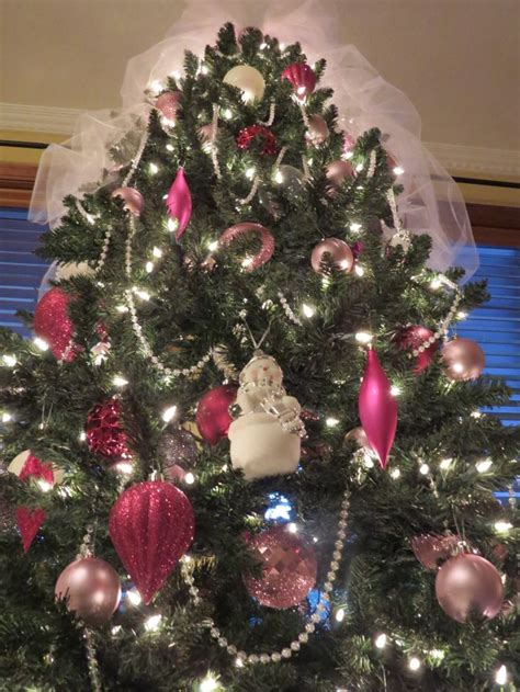 Pink and white christmas tree home sweet home pinterest