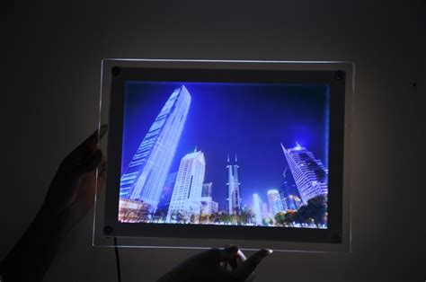 diy lighted picture frame acrylic led illuminated photo frame wall mounted led