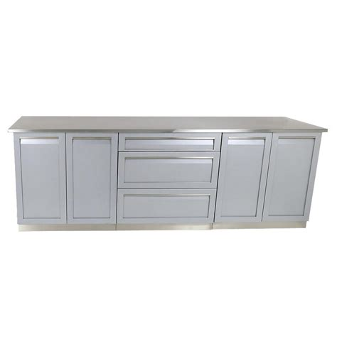 outdoor kitchen stainless steel cabinet doors 4 outdoor 98 in x 36 in x 24 in 4 stainless steel outdoor kitchen cabinet set with