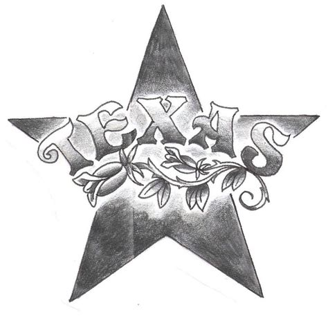 nice letters with amazing texas star tattoo golfian com