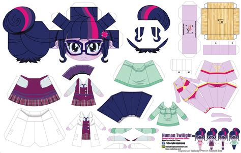 Human Papercraft - human twilight sparkle jcg 101 by eljoeydesigns on