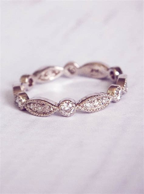the 1930 s style pave wedding band
