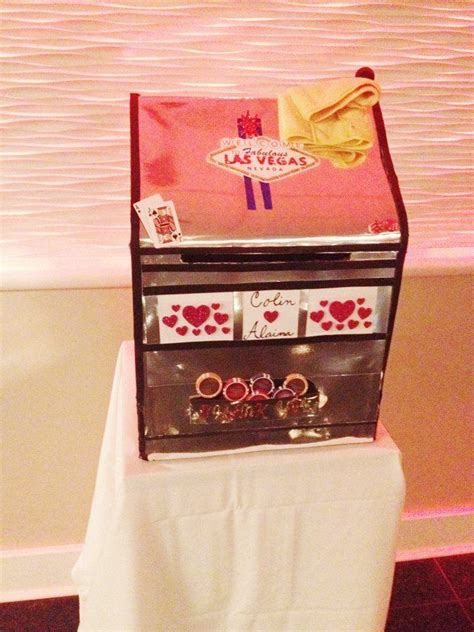 vegas themed wedding gift card box gift card boxes - Vegas Themed Wedding Card Box