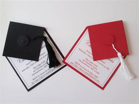 graduation cap invitation kit 5 5 quot x8 5 quot set 24 49664 graduation invitations high school graduation party