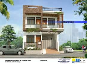Two Story House Plans Modern North Indian Style Villa Home Design For A 2575 Sq