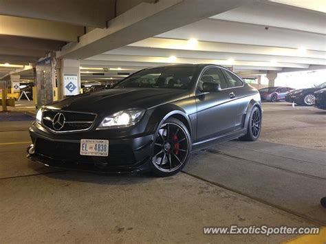 mercedes c63 amg black series spotted in tyson s corner