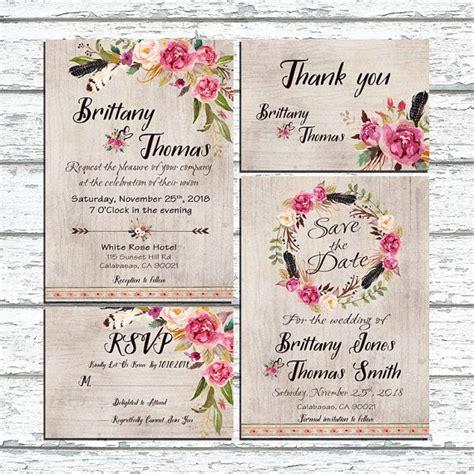 Hochzeitseinladung Floral by Hochzeitseinladungen Landhaus Floral