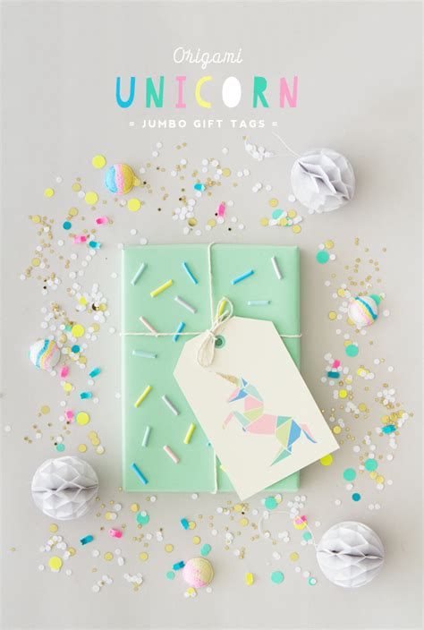 printable unicorn tags free printable origami unicorn gift tags