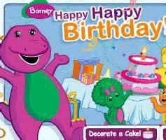 barney birthday cake games barney birthday cake game
