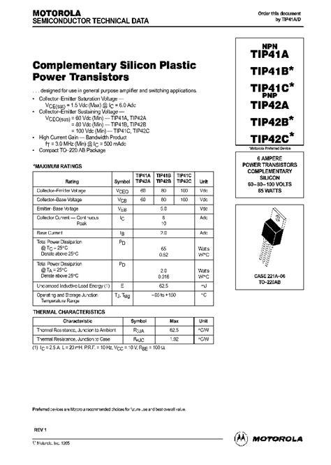 transistor tip41cg tip41c 38687 pdf datasheet ic on line