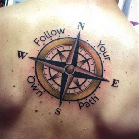 29 cool compass tattoo designs for men