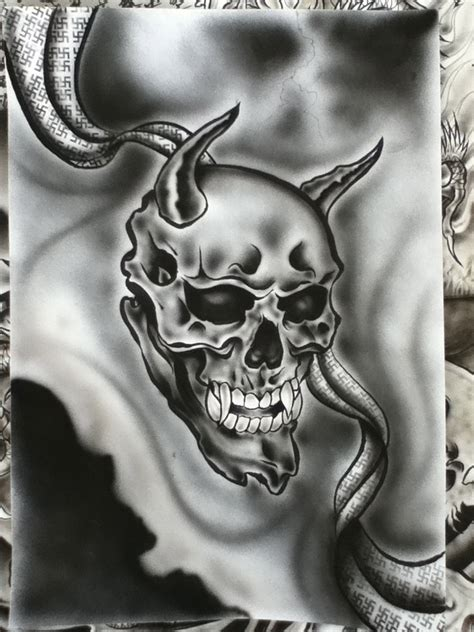 japanese skull hanya by illusionspades on deviantart