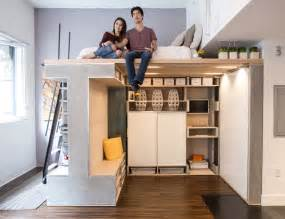 super clever small space solution the transforming living cube apartment therapy
