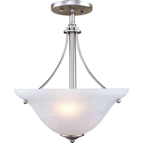 Semi Flush Ceiling Light Brushed Nickel by Filament Design Burton 2 Light Ceiling Brushed Nickel Semi