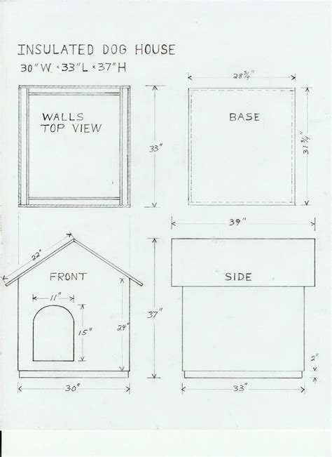 dog house floor plans dog house drawing and materials list for the home